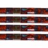 Miyuki Tila Bead 5X5mm 2 Hole Orange with Turquoise Picasso Opaque